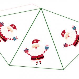 Un petit Père Noël en 3D pour jouer ou pour décorer la maison. Cette décoration est réalisée avec un Père Noël en papier à découper et à c