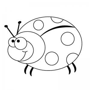 Dessin coccinelle : un coloriage de coccinelle à proposer aux enfants qui aiment ces petits insectes - Page 2
