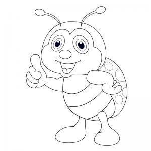 Dessin coccinelle : un coloriage de coccinelle à proposer aux enfants qui aiment ces petits insectes - Page 5