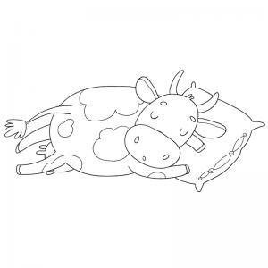 Voici un dessin de vache pour tous les enfants qui aiment les bovins et les animaux de la ferme - Page 3