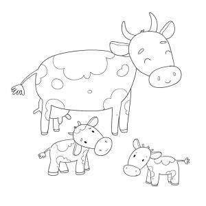 Voici un dessin de vache pour tous les enfants qui aiment les bovins et les animaux de la ferme - Page 4