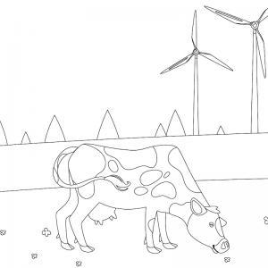 Voici un dessin de vache pour tous les enfants qui aiment les bovins et les animaux de la ferme - Page 5