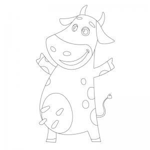 Voici un dessin de vache pour tous les enfants qui aiment les bovins et les animaux de la ferme - Page 8