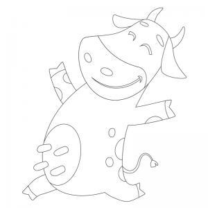 Voici un dessin de vache pour tous les enfants qui aiment les bovins et les animaux de la ferme - Page 9
