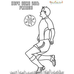 Dessin d'un joueur de foot Euro 2016