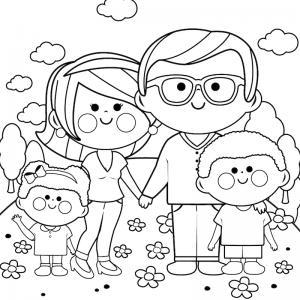 Voici un dessin de Fête des pères trop mignon pour faire plaisir à papa. Imprimez votre coloriage gratuitement. Page 01