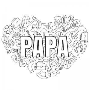 Voici un dessin de Fête des pères trop mignon pour faire plaisir à papa. Imprimez votre coloriage gratuitement. Page 07