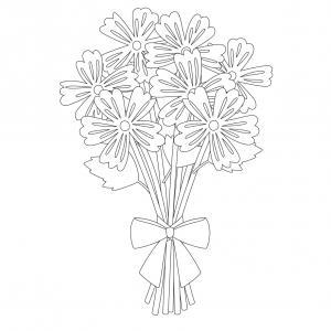 Dessin fleur : voici un dessin à imprimer avec une jolie fleur. Un coloriage à imprimer sur le thème des fleurs et de la nature - Page 02