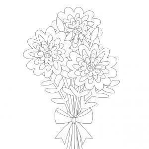 Dessin fleur : voici un dessin à imprimer avec une jolie fleur. Un coloriage à imprimer sur le thème des fleurs et de la nature - Page 03