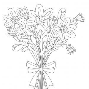 Dessin fleur : voici un dessin à imprimer avec une jolie fleur. Un coloriage à imprimer sur le thème des fleurs et de la nature - Page 04