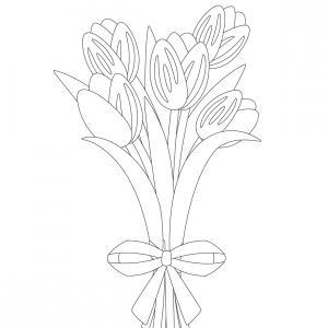 Dessin fleur : voici un dessin à imprimer avec une jolie fleur. Un coloriage à imprimer sur le thème des fleurs et de la nature - Page 05