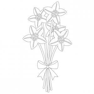 Dessin fleur : voici un dessin à imprimer avec une jolie fleur. Un coloriage à imprimer sur le thème des fleurs et de la nature - Page 06