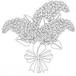 Dessin fleur : voici un dessin à imprimer avec une jolie fleur. Un coloriage à imprimer sur le thème des fleurs et de la nature - Page 07