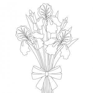 Dessin fleur : voici un dessin à imprimer avec une jolie fleur. Un coloriage à imprimer sur le thème des fleurs et de la nature - Page 08