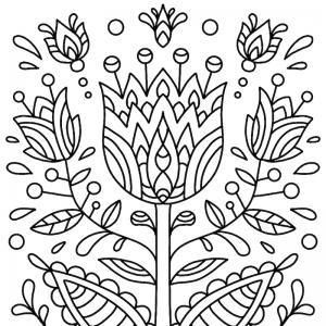 Dessin fleur : voici un dessin à imprimer avec une jolie fleur. Un coloriage à imprimer sur le thème des fleurs et de la nature - Page 09