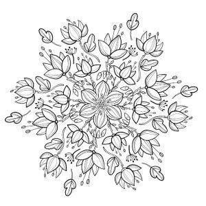Dessin fleur : voici un dessin à imprimer avec une jolie fleur. Un coloriage à imprimer sur le thème des fleurs et de la nature - Page 10