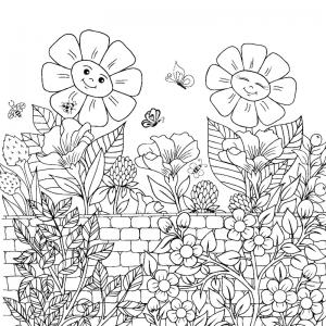 Dessin fleur : voici un dessin à imprimer avec une jolie fleur. Un coloriage à imprimer sur le thème des fleurs et de la nature - Page 11