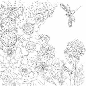 Dessin fleur : voici un dessin à imprimer avec une jolie fleur. Un coloriage à imprimer sur le thème des fleurs et de la nature - Page 12