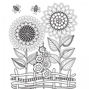 Dessin fleur : voici un dessin à imprimer avec une jolie fleur. Un coloriage à imprimer sur le thème des fleurs et de la nature - Page 13