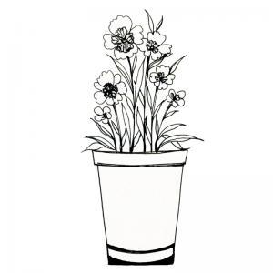 Dessin fleur : voici un dessin à imprimer avec une jolie fleur. Un coloriage à imprimer sur le thème des fleurs et de la nature - Page 14