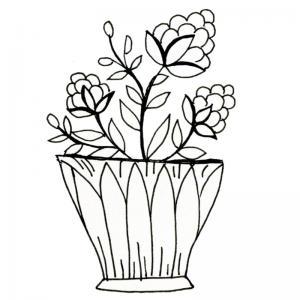 Dessin fleur : voici un dessin à imprimer avec une jolie fleur. Un coloriage à imprimer sur le thème des fleurs et de la nature - Page 15