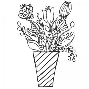 Dessin fleur : voici un dessin à imprimer avec une jolie fleur. Un coloriage à imprimer sur le thème des fleurs et de la nature - Page 16