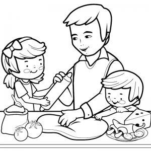 Voici un dessin de Fête des pères trop mignon pour faire plaisir à papa. Imprimez votre coloriage gratuitement. Page 02