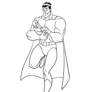 Voici un dessin de Fête des pères trop mignon pour faire plaisir à papa. Imprimez votre coloriage gratuitement. Page 04