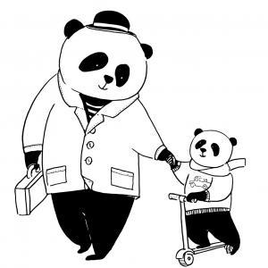 Voici un dessin de Grand Père à imprimer gratuitement. Un coloriage pour tous les enfants qui adorent leur papi. Page 03