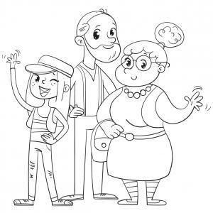 Voici un dessin de Grand Père à imprimer gratuitement. Un coloriage pour tous les enfants qui adorent leur papi. Page 08