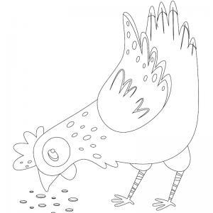 Voici un dessin poule à imprimer pour les enfants qui adorent ces animaux de la ferme ou pour Pâques - Page 6
