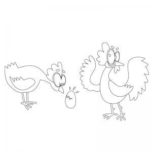 Voici un dessin poule à imprimer pour les enfants qui adorent ces animaux de la ferme ou pour Pâques - Page 7