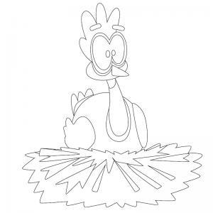 Voici un dessin poule à imprimer pour les enfants qui adorent ces animaux de la ferme ou pour Pâques - Page 8