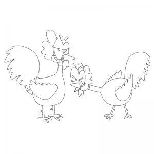 Voici un dessin poule à imprimer pour les enfants qui adorent ces animaux de la ferme ou pour Pâques - Page 9