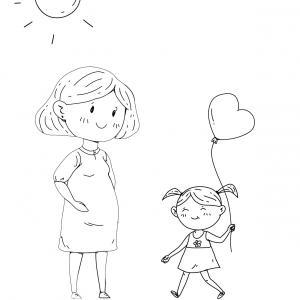 Voici un dessin pour maman à imprimer gratuitement. Un dessin pour faire plaisir à la fête des mères ou pour un anniversaire. - Page 2