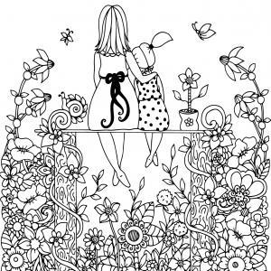 Voici un dessin pour maman à imprimer gratuitement. Un dessin pour faire plaisir à la fête des mères ou pour un anniversaire. - Page 10