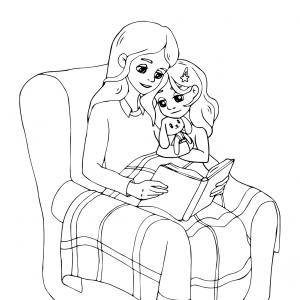 Voici un dessin pour maman à imprimer gratuitement. Un dessin pour faire plaisir à la fête des mères ou pour un anniversaire. - Page 11
