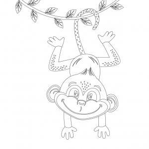 Dessin singe : voici un coloriage avec un dessin de singe ! Un dessin à imprimer sur le thème des singes - Page 4