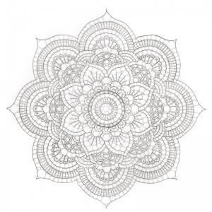 """A toi de dessiner tes propres mandalas.  Mandala signifie littéralement """"cercle"""" mais il désigne plus largement un objet support à la méditation et à la concentration composé de c"""