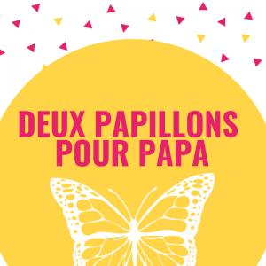 Deux papillons pour papa est un poème plein d'amour et d'attention que votre enfant pourra réciter le jour de la fête des pères ou à chaque occasion qu'il aura de lui faire plaisir. Imprimez ce joli poème illustré gratuitement et collez-le par exemple sur