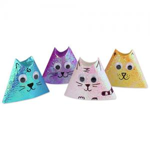 S'initier à l'origami avec des jolis petits chats à paillettes