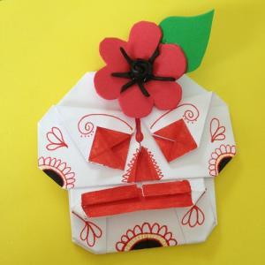Tuto pour réaliser une guirlande origami calavera halloween