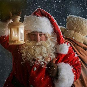 Père Noël le jour de Noël