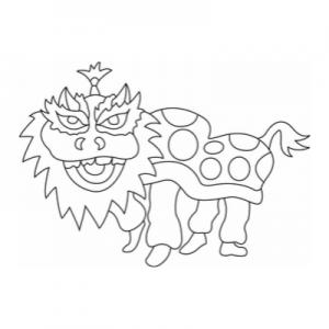 Un dragon du Nouvel An Chinois à télécharger et à imprimer gratuitement pour les enfants !