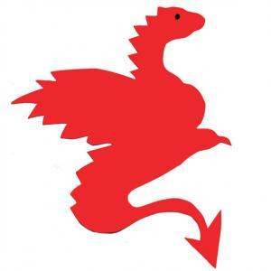 Un modèle de dragon à imprimer, à découper et à coller pour décorer une voile de bateau ou un bouclier