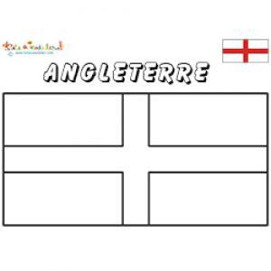 Drapeau d'Angleterre, coloriage drapeau d'Angleterre