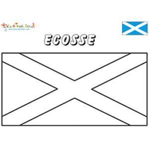 Coloriage du drapeau de l'Ecosse