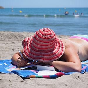 serviette à la plage