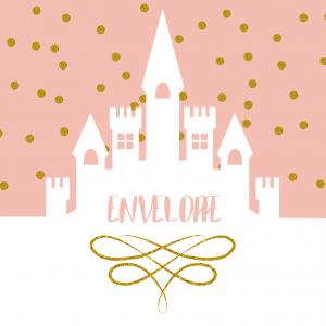 Imprimez votre enveloppe pour pouvoir inviter tout le monde au meilleur anniversaire de princesse du monde. Il suffira de l'imprimer sur une feuille A4 et de la monter afin de pouvoir y glisser l'invitation