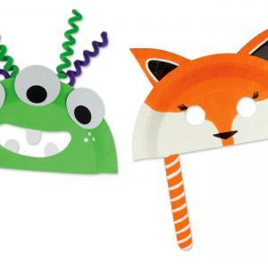 DIY - Deux masques à fabriquer avec une assiette en carton